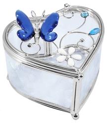 YD298-BM-A Шкатулка Синяя бабочка, Charme de Femme