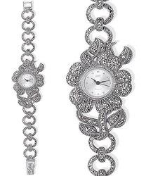 Часы из серебра с марказитами HW001