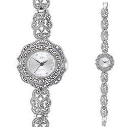 Часы из серебра с марказитами HW111