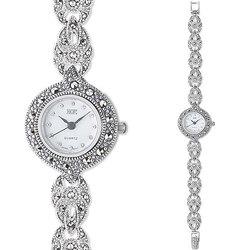 Часы из серебра с марказитами HW113