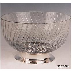 Ваза для фруктов из серебра и хрусталя 30-25064