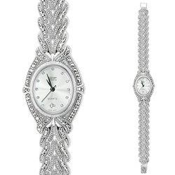 Часы из серебра с марказитами HW104