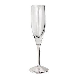 Бокал для шампанского из серебра и хрусталя 30-27458